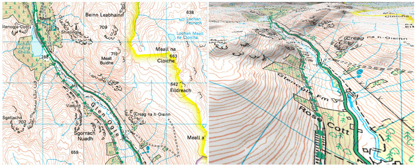 Ordnance Survey mapping for Glen Ogle