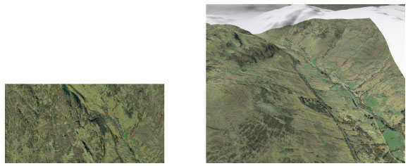 Low resolution aerial photography for Glen Ogle