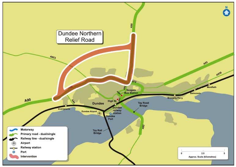 j10194c-34 Dundee Scotland Map on