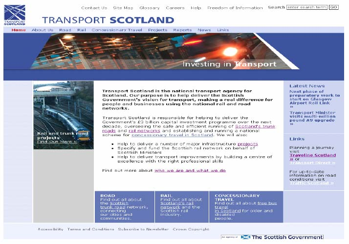 Figure 4.1: Transport Scotland homepage