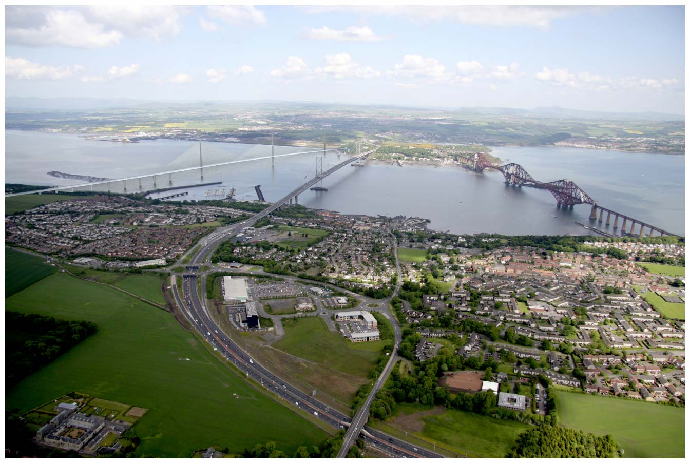 Mono-Tower viewed from above South Queensferry