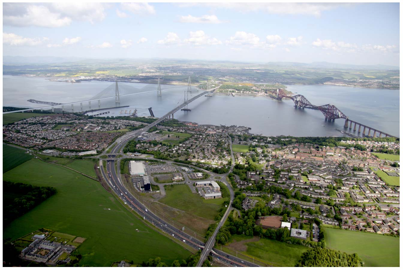 H-Shape Tower viewed from above South Queensferry