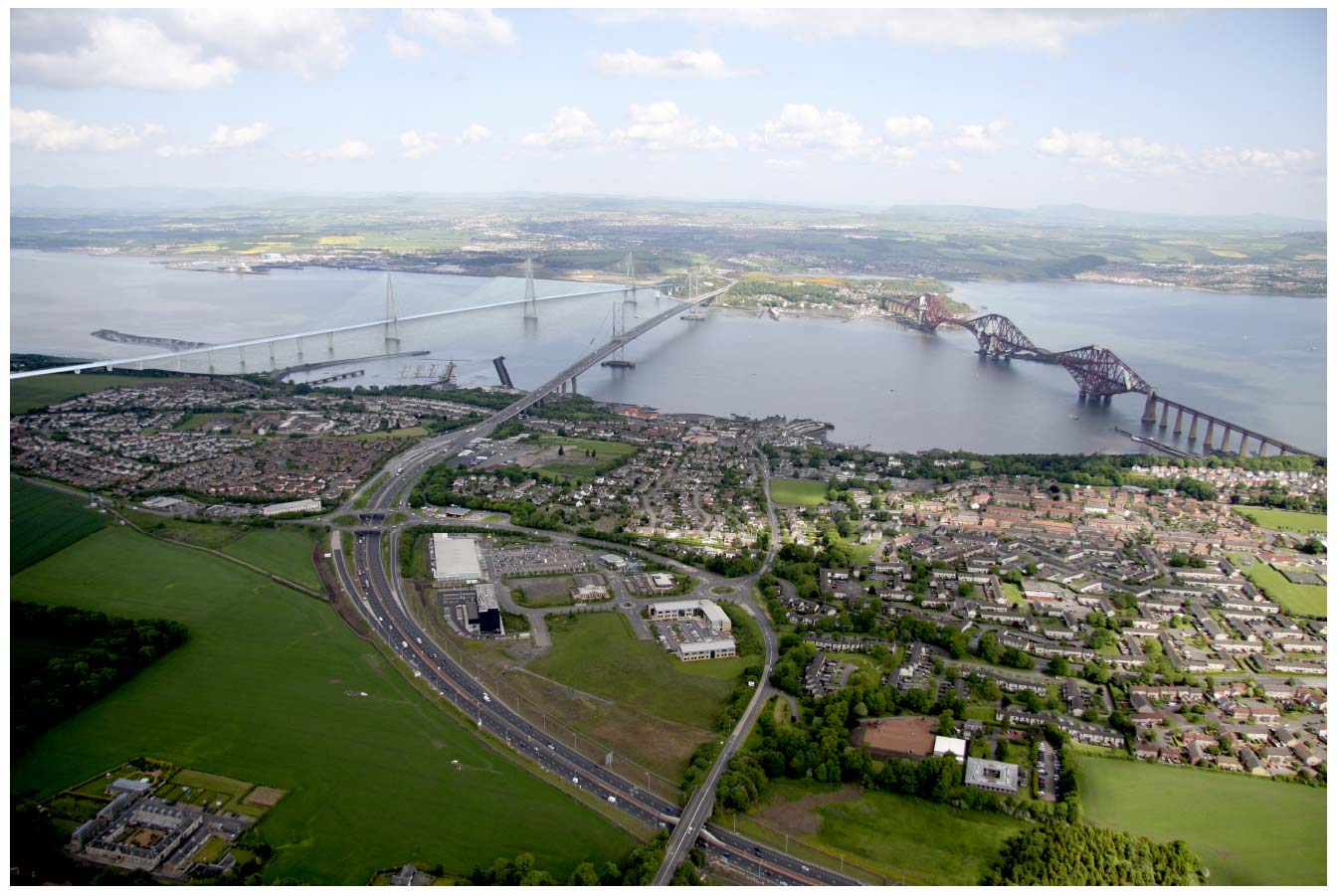 A-Frame Tower viewed from above South Queensferry