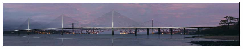Figure 1.6: Artist's impression of 3 mono-tower cable stay bridge