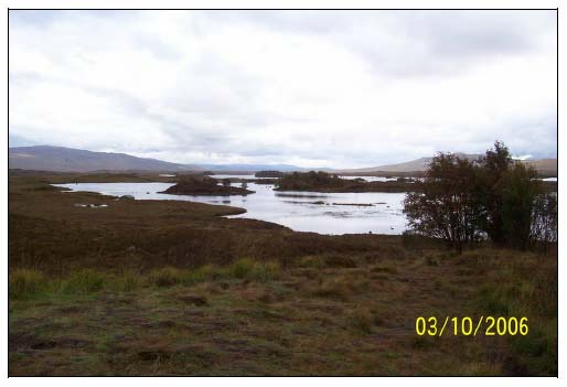 Figure 7.2 Loch Ba west of Ba Bridge.