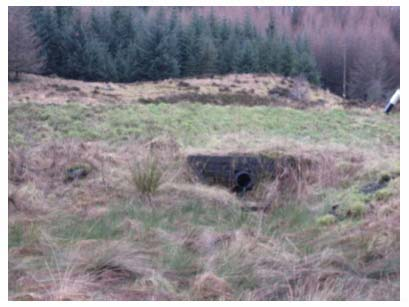 Figure 3.6: Current culvert under A82 to Glasgow (looking upstream, north west) (chainage 23m)