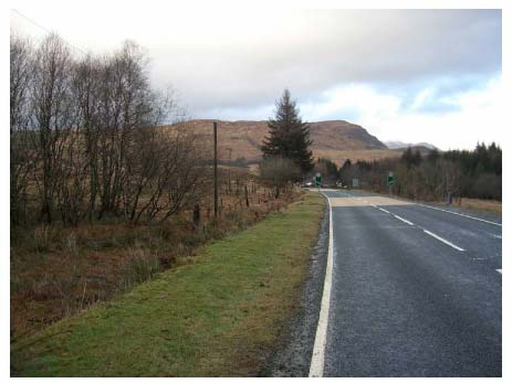Figure 10.11 View from the A82 approaching the village from the south.