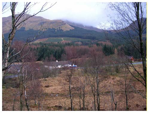Figure 10.15 View from the West Highland Way spur where it emerges from the conifer plantations
