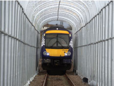 An example of the polytunnel, to help de-ice trains during severe weather