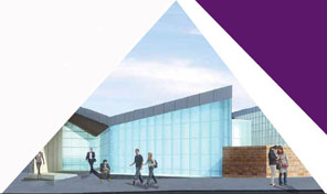 Artist's impression of Dalmarnock Station exterior
