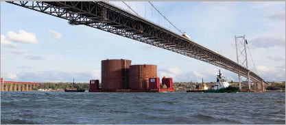 Caissons arriving for Forth Replacement Crossing