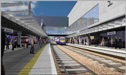 Visual of Haymarket Station as part of the Edinburgh-Glasgow Improvement Programme