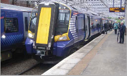 Class 380 train at Paisley Gilmour Street Station