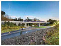 Artists impression of Hardengreen viaduct as part of the Borders Railway
