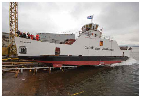 Launch of the MV Hallaig