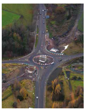 Borders Hardengreen Roundabout aerial view