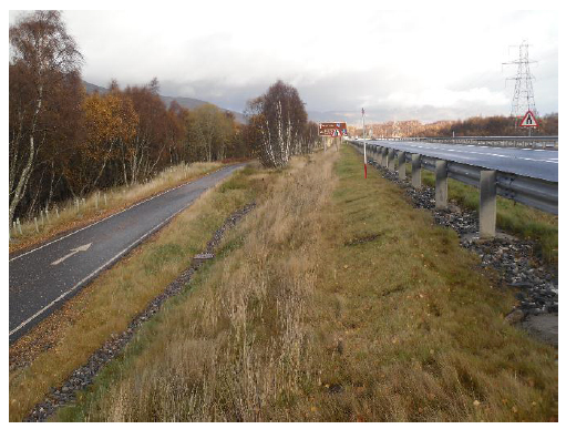 Figure 13 Existing cycle path retained as part of scheme