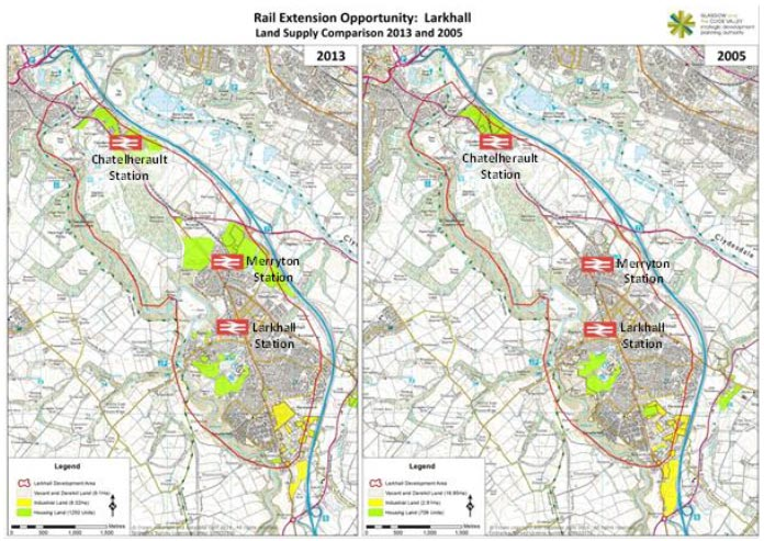Figure 29 Larkhall Land Use Supply Comparison, 2013 and 2005