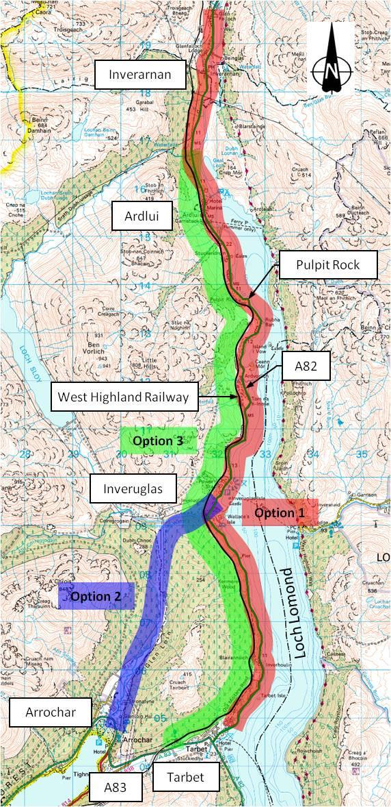 A82 Tarbet to Inverarnan route options
