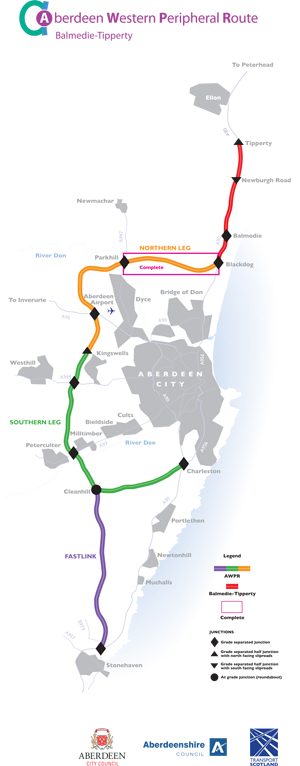Awpr Route Map Parkhill (Goval) to Blackdog