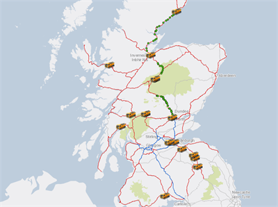 Traffic Scotland's gritter tracker