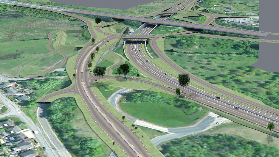 An image of the new Raith Junction generated using BIM technology