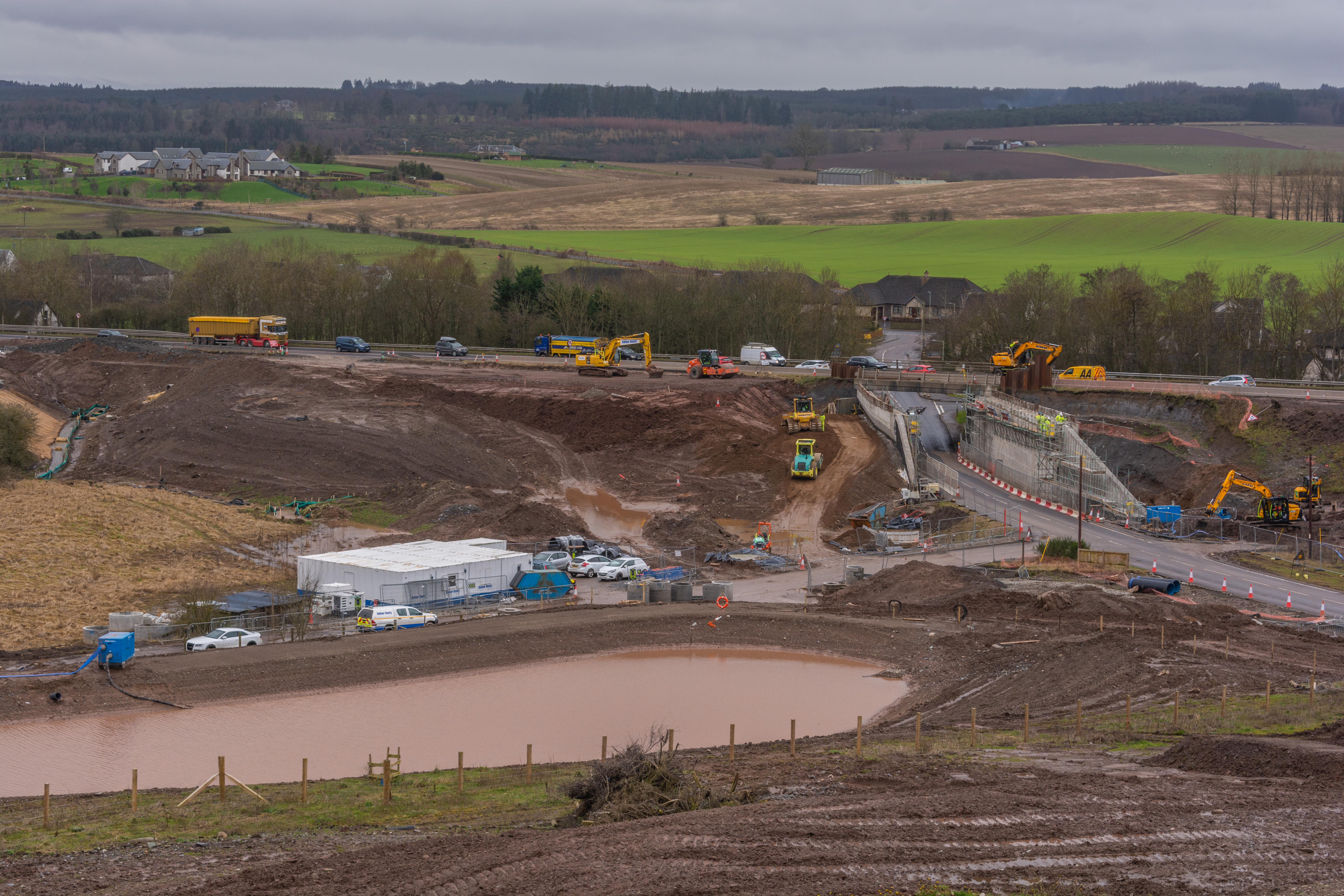Earthwork operations being carried out at Hunters Lodge