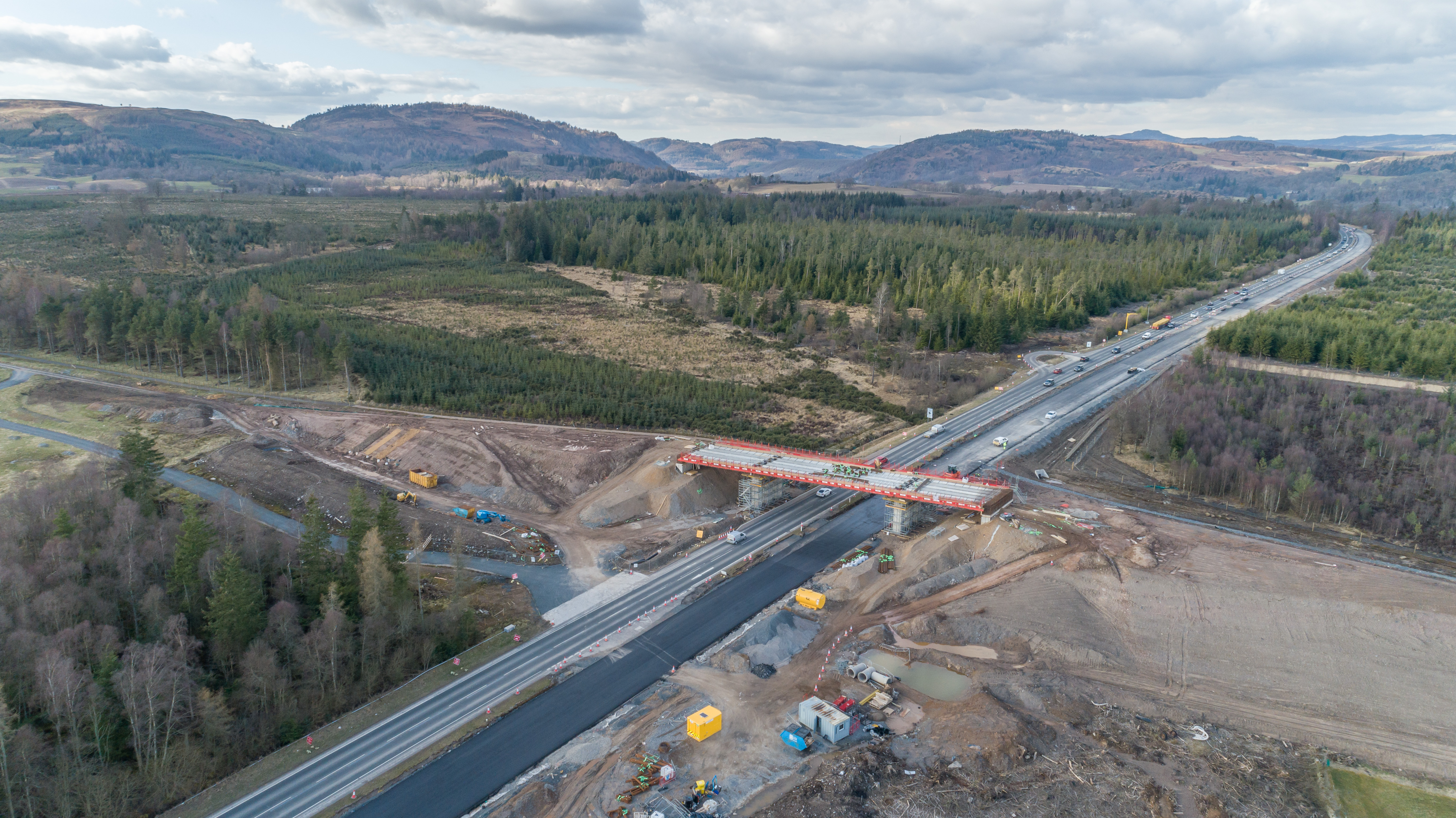 New A9 southbound carriageway