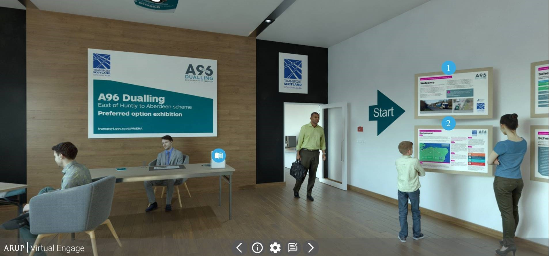 Screenshot of the virtual exhibition room for December 2020.